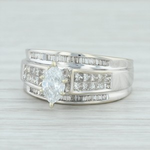 White Gold .90ctw Diamond - 14k Size 7.25 .50ct Solitaire Egl Engagement Ring