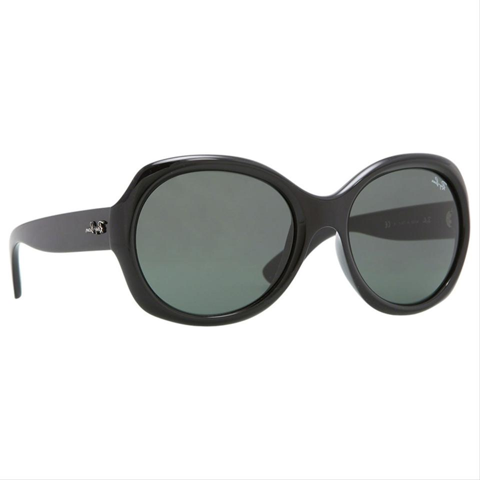 9a9e26f838def7 Ray-Ban Polished Black Frame   Green Lens Rb4191 601 71 Oversize ...