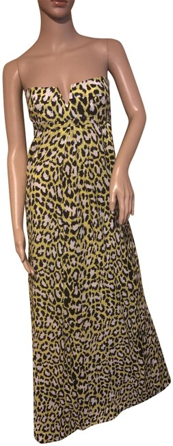 Item - Yellow Black and White Krystal Medium Cover-up/Sarong Size 6 (S)