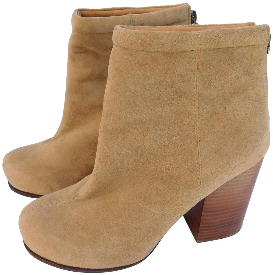 c576e637aa5cf Jeffrey Campbell Suede Block Heel Ankle Chunky Heels TAN Boots Image 0 ...