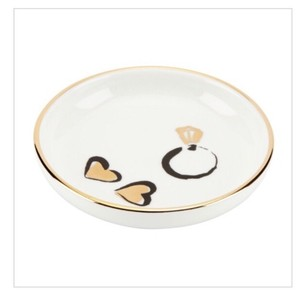 Kate Spade White/ Gold Daisy Place Ring Dish Decoration