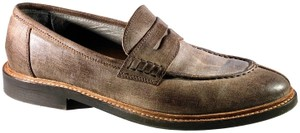 Brunello Cucinelli Leather Loafers Round-toe Brown Flats
