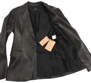 ALAÏA One Button Lined Luxury black Leather Jacket