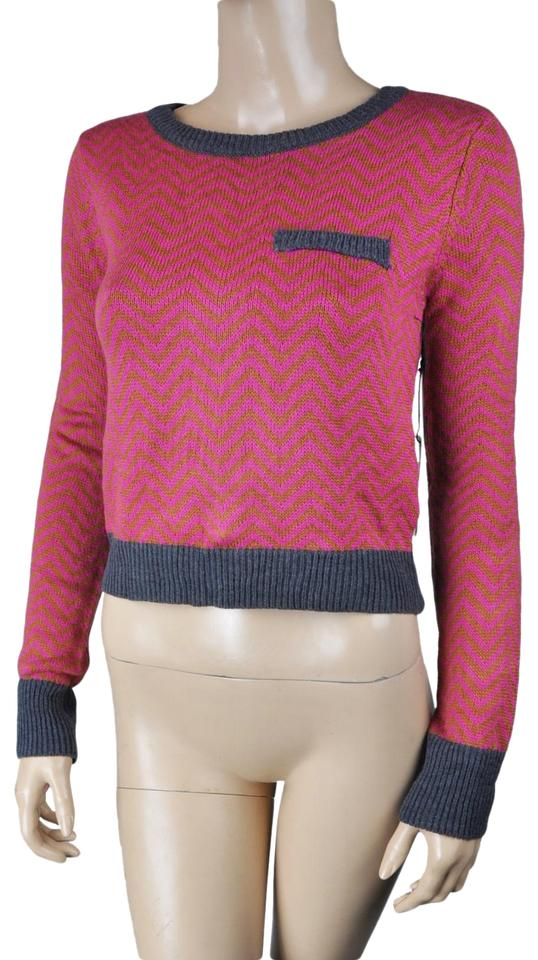 Lucca Couture Black Striped Soft Long Sleeve Red Sweater - Tradesy 5da1d5a3c