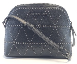 d2ded3632422 Michael Kors Cross Body Bag · Michael Kors. New Women's Adele Studded Dome  Black Leather ...