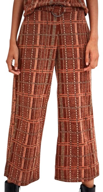 Item - Orange Jacquard Pants Size 6 (S, 28)