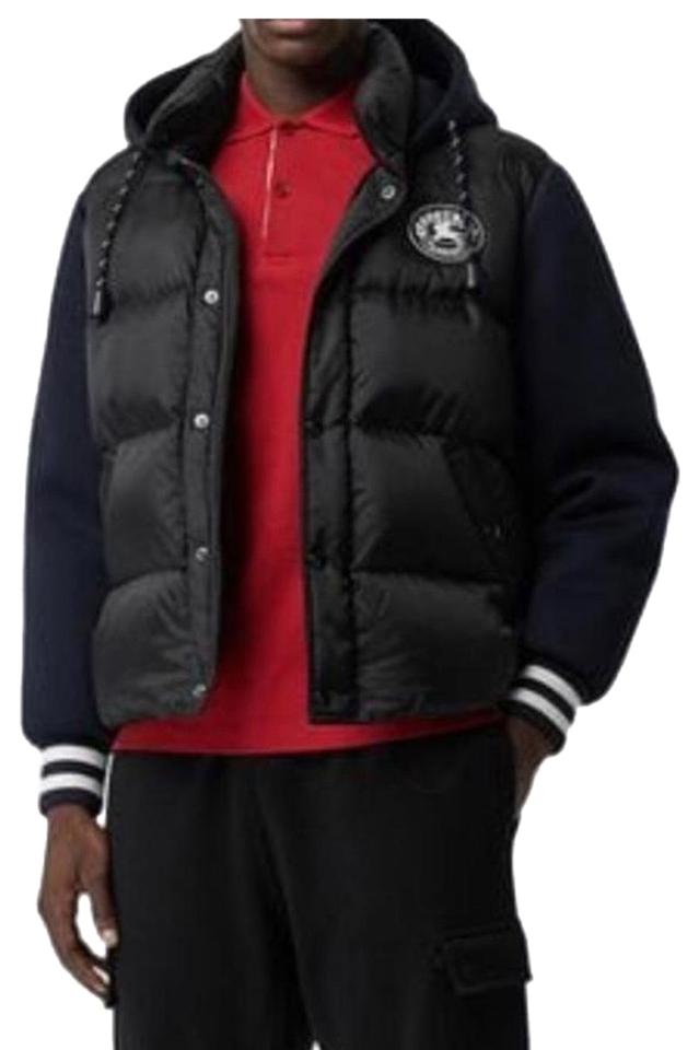 watch huge discount outlet store Burberry Black Mens Hooded Padded Jacket Us46 Coat Size 22 (Plus ...