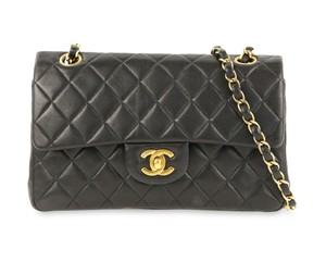 c35a112983fc Added to Shopping Bag. Chanel Shoulder Bag. Chanel Double Flap Small Classic  Black Lambskin Leather ...