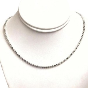 "David Yurman STYLISH LOOK!! David Yurman Sterling Silver Box Link Chain Sterling Silver 22"" 100% Authentic Guaranteed!! Comes with Original David Yurman Pouch!!"