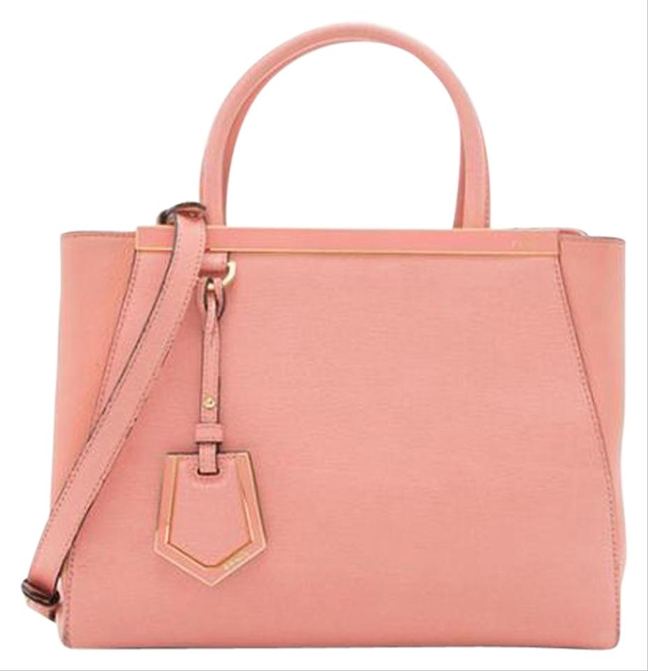 c338272706a7 Fendi 2jours Handbag Petite Pink Leather Shoulder Bag - Tradesy