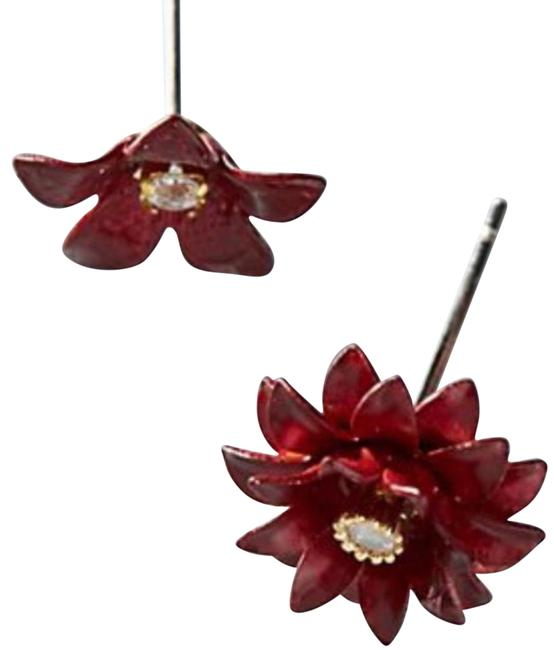 Item - Red Blossom Set Of Two Earrings