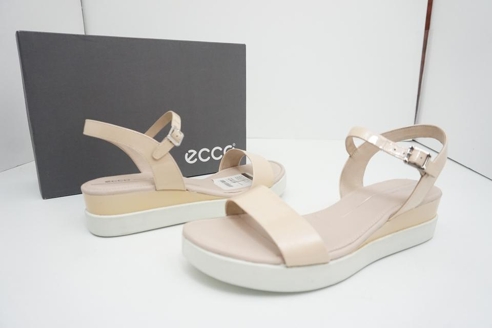 Ecco Nude Touch Women's Plateau Rose Patent Leather Sandals Size EU 40 (Approx. US 10) Regular (M, B) 32% off retail