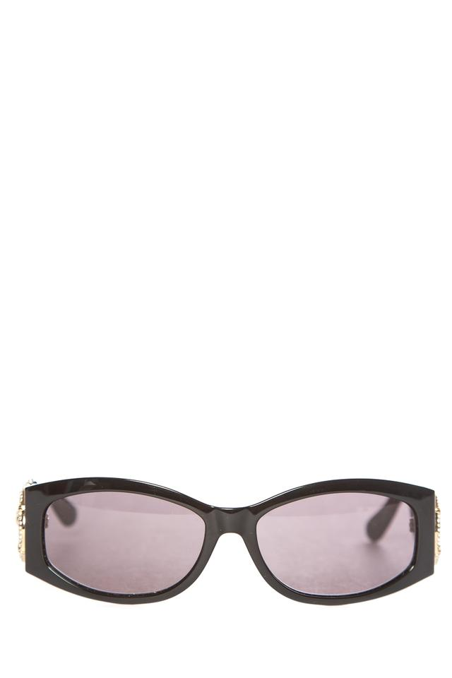 0c691576f38 Gucci GUCCI Black Strass Horsebit Gold and Crystal Sunglasses Image 0 ...
