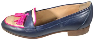J.Crew Navy Blue, Cream and fuchsia Flats