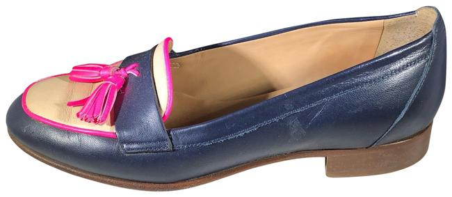 Item - Navy Blue Cream and Fuchsia Biella Tassel Loafer Flats Size US 5 Regular (M, B)