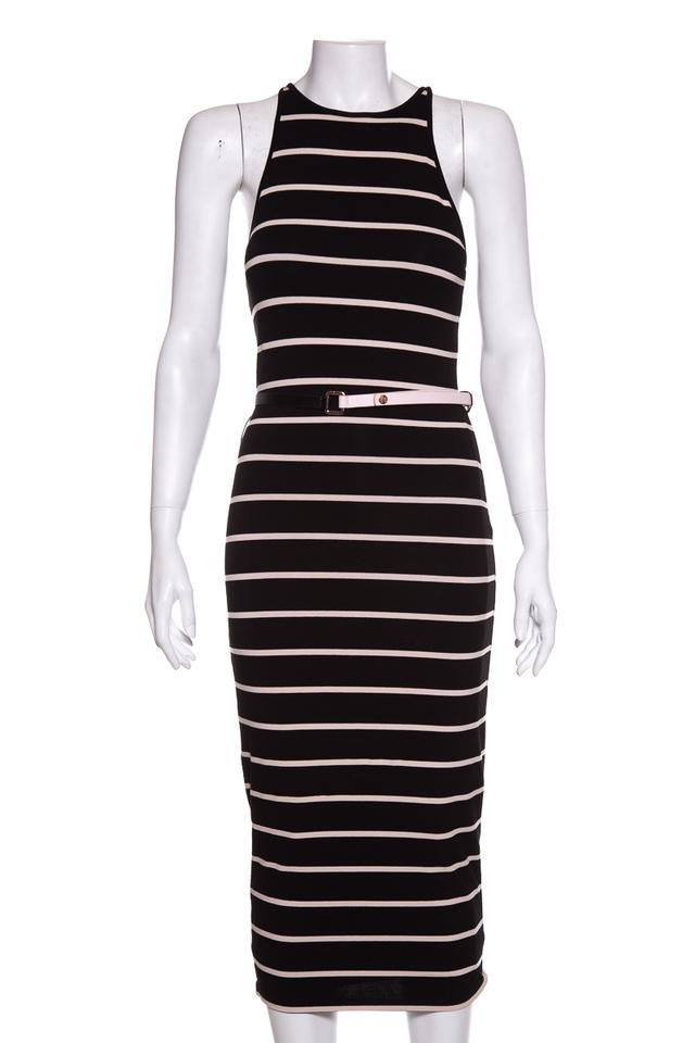 a37ae1234 Ted Baker Black   White Casual Maxi Dress. Size  4 (S) Length  Long ...