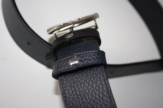 Gucci Gucci Belt Reversible Black and Navy 449715 Size 38