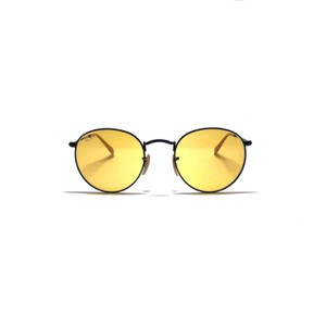 Ray-Ban Style RB 3447 9066/4A Free 3 Day Shipping Retro Yellow Rounded Ray Ban