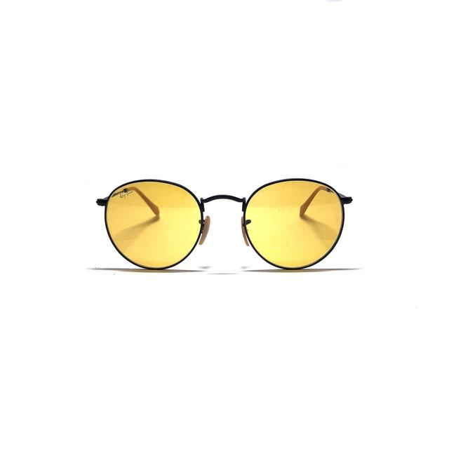 Item - Black - Yellow Lens Style Rb 3447 9066/4a Free 3 Day Shipping Retro Rounded Sunglasses