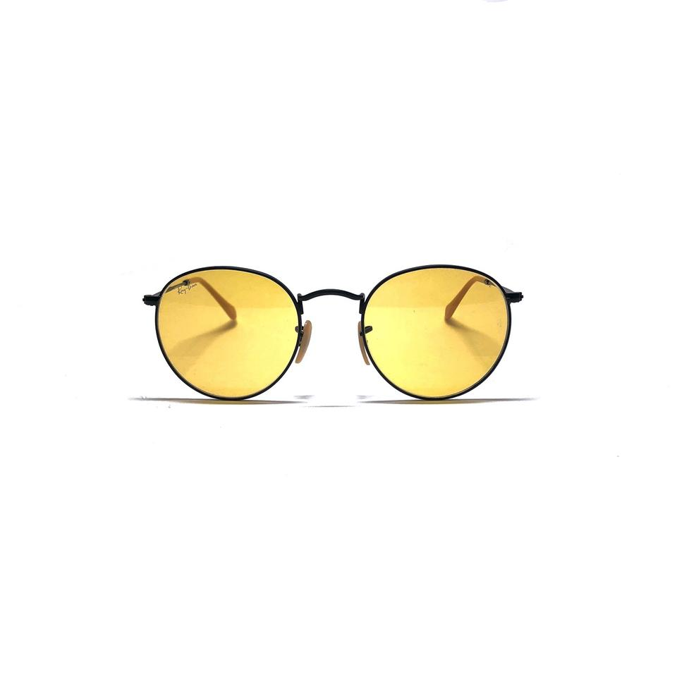 cca6e684f24 Ray-Ban Black - Yellow Lens Style Rb 3447 9066 4a Free 3 Day Shipping Retro  Rounded Sunglasses