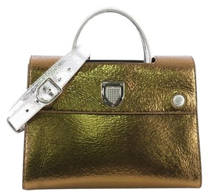 Dior Handbag Leather Tote in gold metallic 069040a82be24