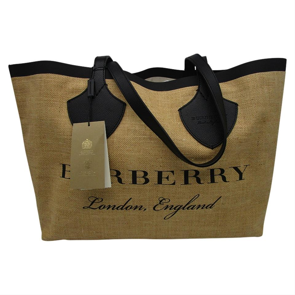 5af3a742679e Burberry Medium Logo Print Brown Canvas Tote - Tradesy