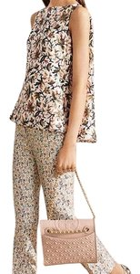 Tory Burch Top ivory and multi color