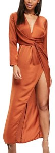 Orange Maxi Dress by Missguided