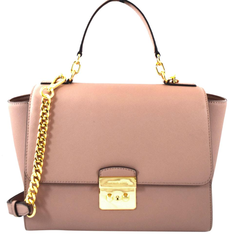 66000481aed0 Michael Kors Brandi Pink Fawn Leather Satchel - Tradesy