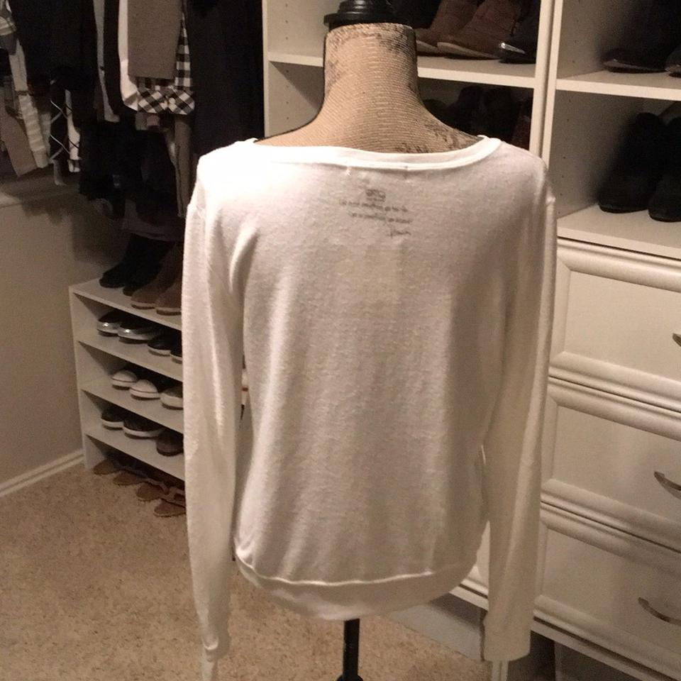 Peace Love World I Summer White Sweater 48% off retail