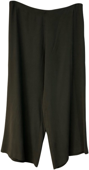 Item - Dark Brown Silk Crepe De Chine M Pants Size 10 (M, 31)