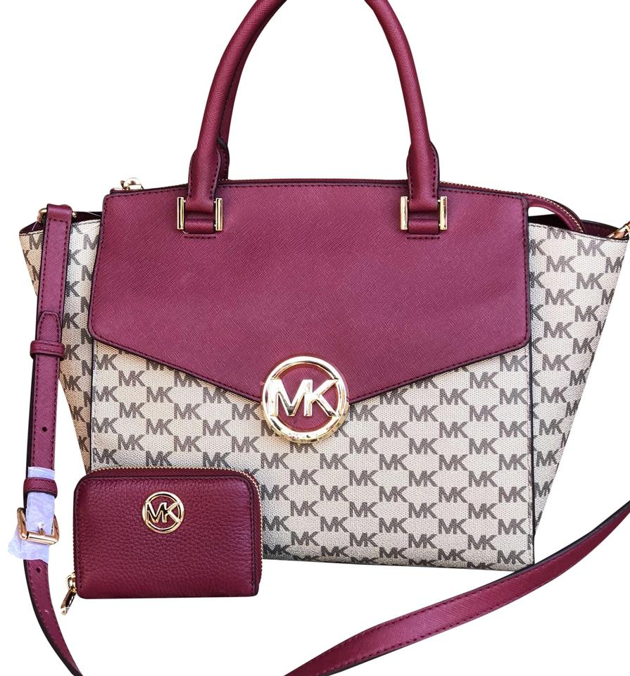 4719508ac2e3ba low cost michael kors satchel in natural mulberry eff20 5546e