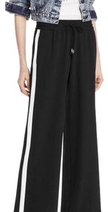 Alice + Olivia Relaxed Pants Black with White Side Panel