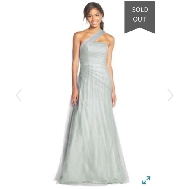 Item - Blue One Shoulder Tulle Gown Long Formal Dress Size 2 (XS)