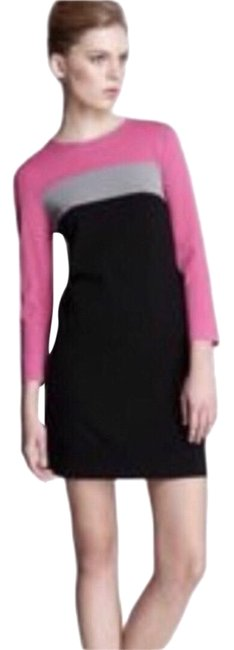 Item - Black Pink Gray Aina Color Short Casual Dress Size 0 (XS)