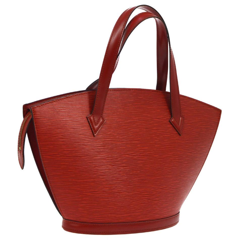 b570c6b048b9 Louis Vuitton Saint Jacques Hand Tote Red Epi Leather Baguette - Tradesy