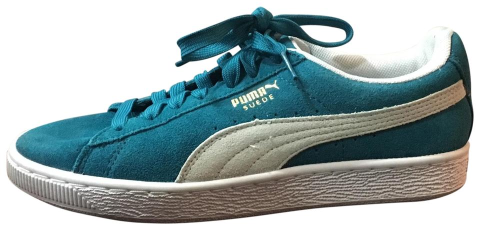 021e2425ee Puma Teal Suede Classic Sneakers Size US 7.5 Regular (M