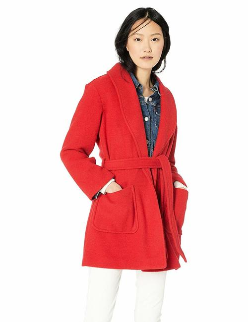 Item - Red Mercantile Women's Belted Wool Wrap Coat Size 14 (L)