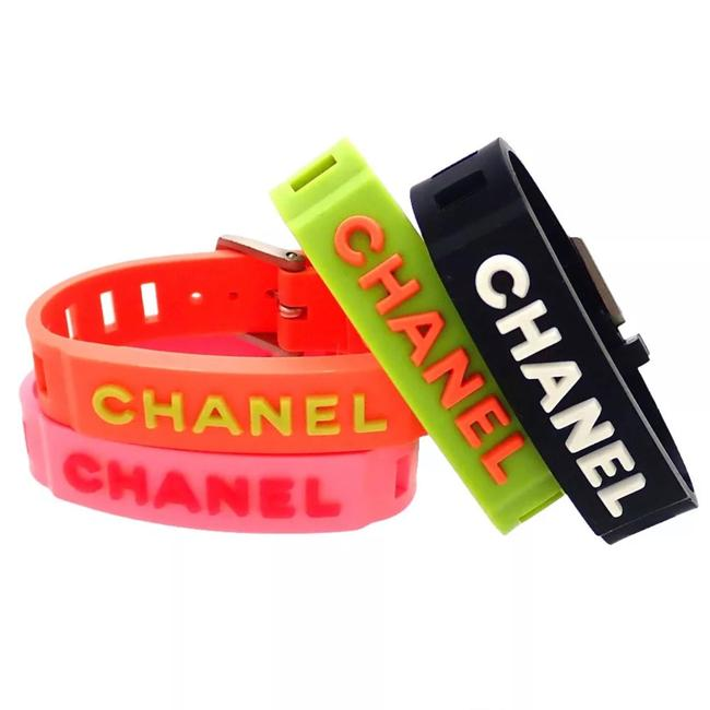 Item - Pink Lime Green Black Orange Silicon Available In For Colors Bracelet