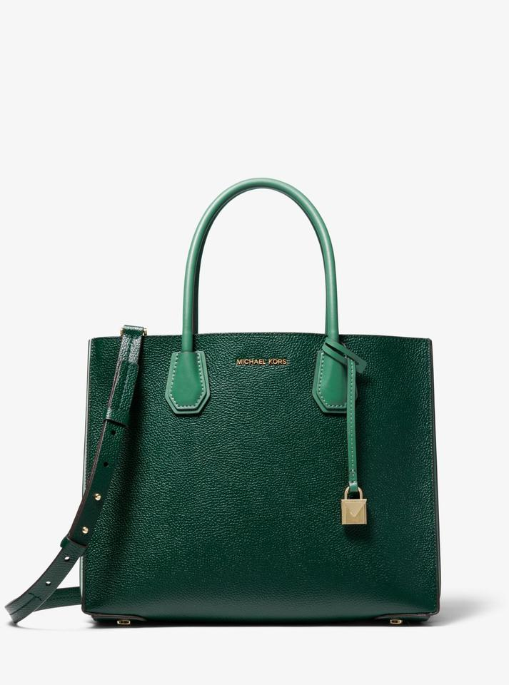 680a4bdf08dd Michael Kors Leather 30h8gm9t3t Satchel in Racing Green Image 3. 1234