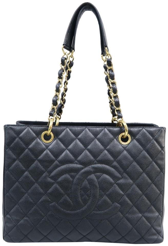 56663931d111 Chanel Shopping Tote Grand Black Caviar Shoulder Bag - Tradesy