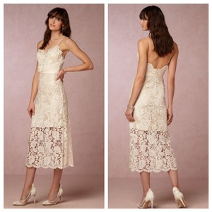 f6f7aeb5b Catherine Deane for BHLDN Ivory Champagne Halo Casual Wedding Dress Size 2  (XS)