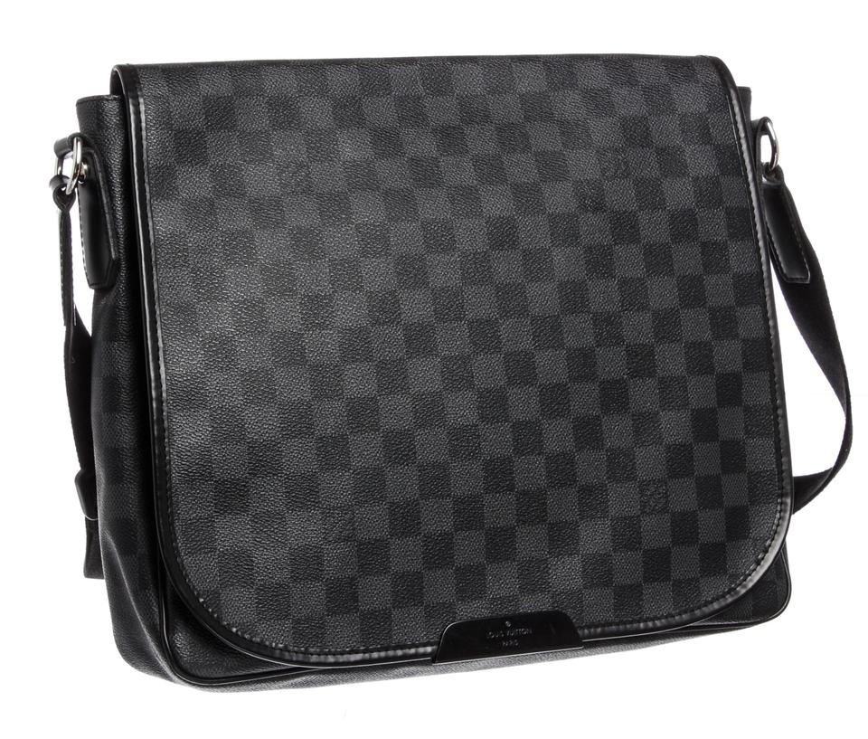 6f4b81c6a73d Louis Vuitton Damier Graphite Canvas and Leather Messenger Bag - Tradesy