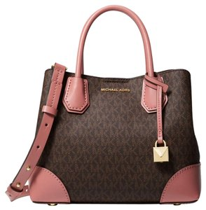 Michael Kors Canvas Rose/Brown 30h8gz5s5v Satchel in Rose/Brown