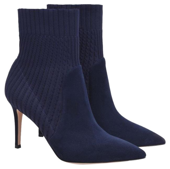 Item - Navy Blue Katie 85 Suede Sock Ankle Boots/Booties Size EU 39 (Approx. US 9) Regular (M, B)