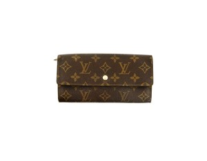 Louis Vuitton Vintage Sarah Monogram Canvas Leather Long Clutch Wallet
