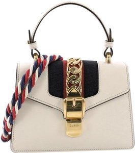 Gucci Sylvie Top Handle Satchel in White