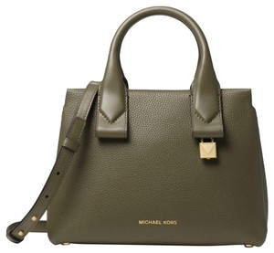 Michael Kors Leather 30f8gx3s1l Satchel in Olive