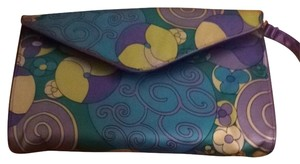 Julie Brown Purple/yellow/turquoise Clutch