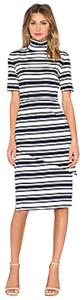 Finders Keepers Just My Luck Turtleneck Knit Striped Nautical Dress